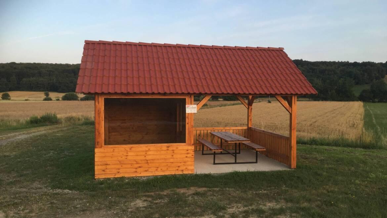Novo kolesarsko počivališče v Domanjševcih