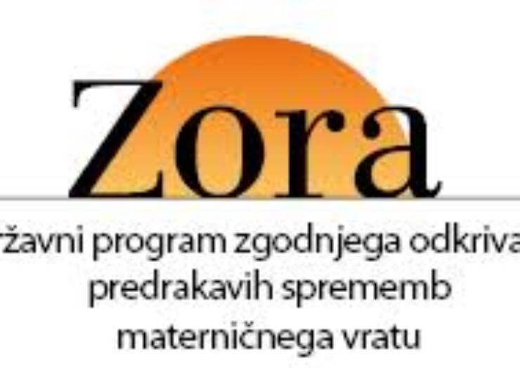 Podatki o udeležbi žensk v programu ZORA za občino Šalovci ob Evropskem tednu preprečevanja raka materničnega vratu