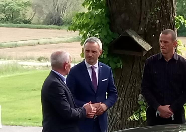 Minister Cigler Kralj obiskal Šalovce