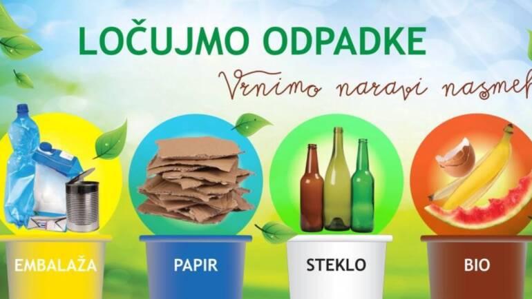 Ločeno zbiranje papirja in bioloških odpadkov